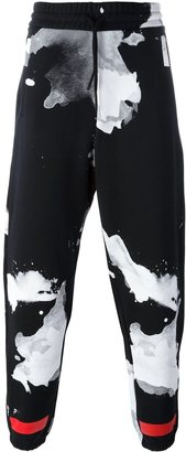 Off-White drawstring abstract print trousers $385.92 thestylecure.com