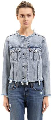 Levi's Raw Cut Cotton Denim Trucker Jacket