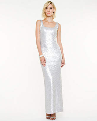 Le Château Sequin Scoop Neck Gown