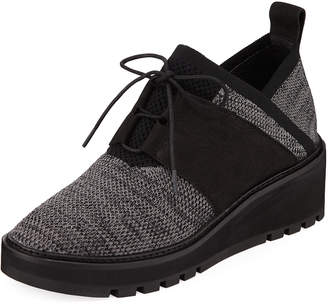 Eileen Fisher Wilson Lace-Up Knit Wedge Walking Shoes