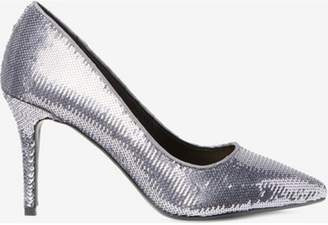 e4ad2efcf7 Dorothy Perkins Womens Grey Pewter  Ezzy  Sequin Court Shoes