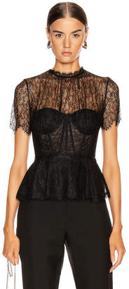 Jonathan Simkhai Lace Bustier Top in Black | FWRD