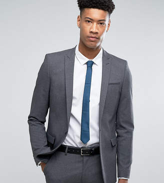 Asos DESIGN TALL Skinny Suit Jacket In Charcoal