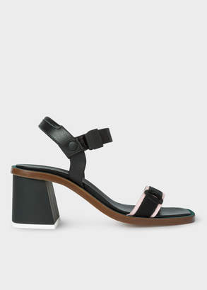 Paul Smith Women's Black Leather 'Yola' Sandals