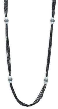 Beaded Sterling Silver Multi-Strand Necklace