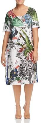 Marina Rinaldi Downtown Botanical-Print Dress