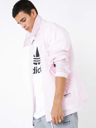 adidas NMD Coach Shirt Jacket in Clear Pink