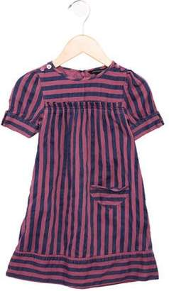 Little Marc Jacobs Girls' Striped Short Sleeve Dress