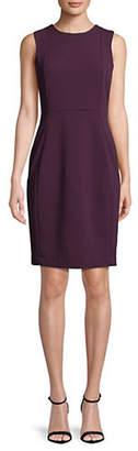 Calvin Klein Sleeveless Scuba Crepe Sheath Dress