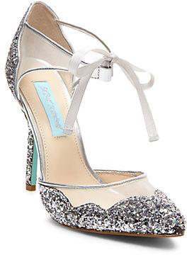 Betsey Johnson Stela Glitter Heels $99 thestylecure.com