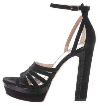 Tamara Mellon Suede Platform Sandals