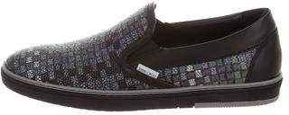 Jimmy Choo Grove Mosaic Leather Sneakers w/ Tags