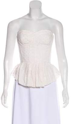 Rebecca Taylor Flared Corset Strapless Top