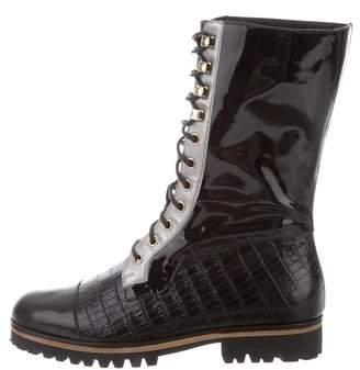 Rodarte 2015 Lace-Up Mid-Calf Boots