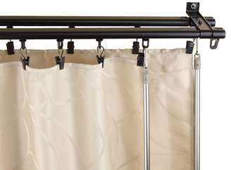 Rod Desyne Armor Wall Mount Adjustable Traversing Double Curtain Track