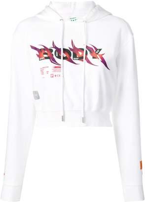 Heron Preston Body print cropped hoodie