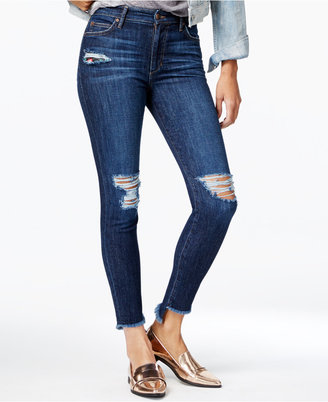 Joe's The Charlie Ripped Skinny Ankle Jeans $198 thestylecure.com