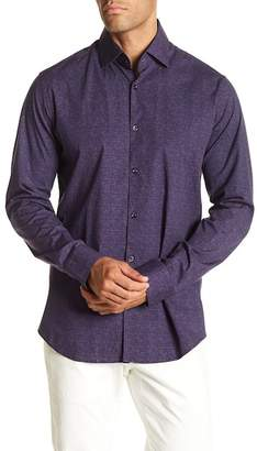 Stone Rose Heather Printed Slim Fit Shirt
