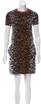Stella McCartney Leopard Knit Jacquard Dress w/ Tags