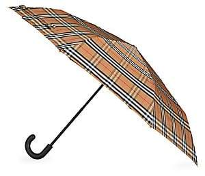 Burberry Women's Packable Check Umbrella