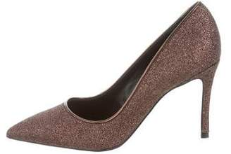 Abel Muñoz Pointed-Toe Glitter Pumps