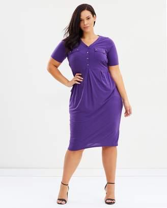 Evans Button Pocket Dress