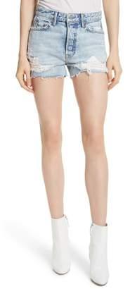 GRLFRND Helena Ripped Denim Shorts