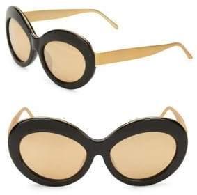 Linda Farrow 57MM High Contrast Round Sunglasses
