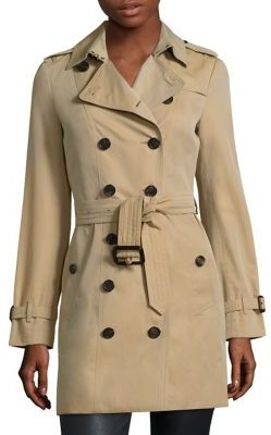 Burberry Sandringham Mid-Length Heritage Trench Coat $1,795 thestylecure.com