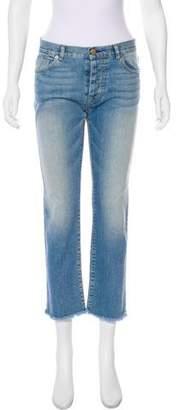Nili Lotan Mid-Rise Straight-Leg Jeans