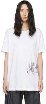 Y's Ys White Barcode T-Shirt