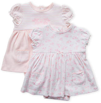 Little Me Newborn/Infant Girls) Two-Pack Skirted Bodysuits