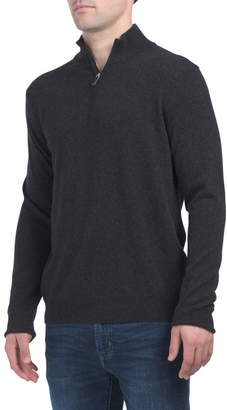 Made In Italy Cashmere Zip Sweater