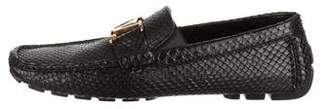 Louis Vuitton Snakeskin Initiales Driving Loafers w/ Tags