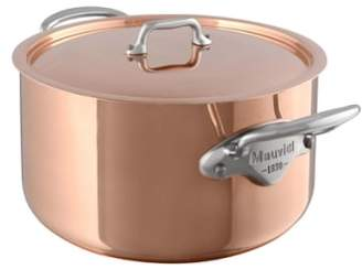 Mauviel M'heritage - M'150s Copper & Stainless Steel Stew Pot with Lid