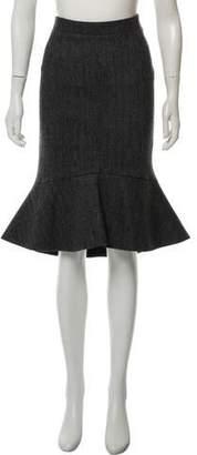 Derek Lam Wool Knee-Length Skirt