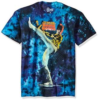 Liquid Blue Unisex-Adult's Bowie David Kick Tie Dye Short Sleeve T-Shirt