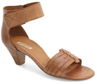 Paul Green 'Coco' Leather Ankle Strap Sandal $285 thestylecure.com