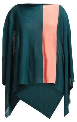 Issey Miyake Bloom Fine Knit Cape - Womens - Green Multi