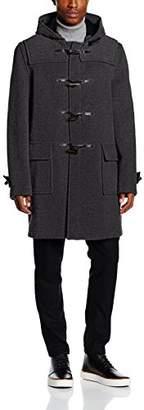 Gloverall Men's Morris Coat, (Grey Blackwatch), Medium