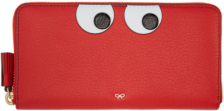 Anya Hindmarch Anya Hindmarch Red Large Eyes Wallet