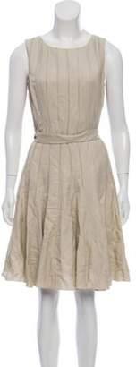 Calvin Klein Collection Linen Knee-Length Dress w/ Tags Tan Linen Knee-Length Dress w/ Tags