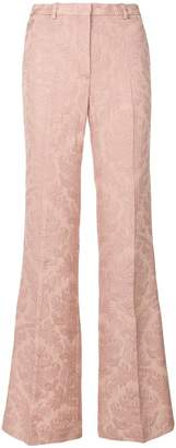 Theory flared jacquard trousers