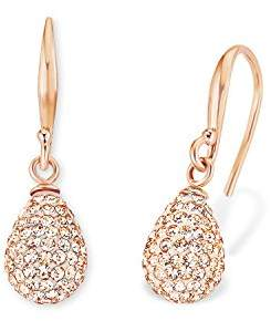 Amor Women's Earrings Peach Drop Crystal Rose Gold Plated Orange 2.7 cm 513265