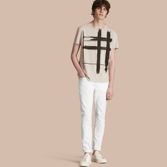 Burberry Slim Fit Stretch Japanese Denim Jeans $215 thestylecure.com