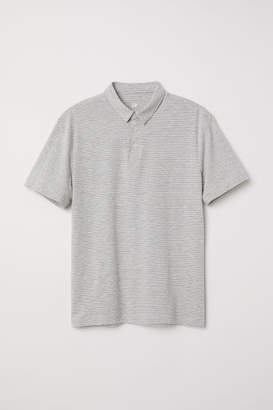 H&M Polo Shirt Slim fit - Gray