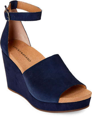 d25a3d5d2e1 Lucky Brand Suede Wedge - ShopStyle