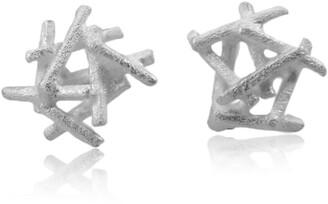 Karolina Bik Jewellery Nest Earrings Silver