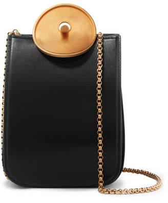 Marni Mini Leather Shoulder Bag - Black