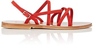 K. Jacques Women's Datura Suede Sandals - Red Size 5